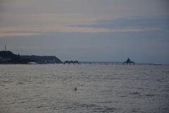 Blick auf die Seebrücken